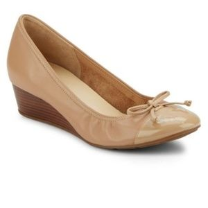 Cole Haan Air Tali Leather Wedge Pump.